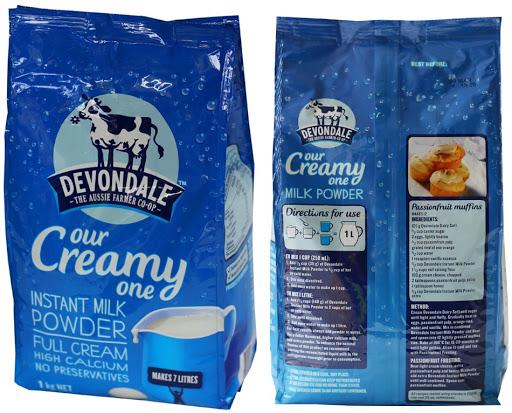 Sữa tươi nguyên kem dạng bột Devondale