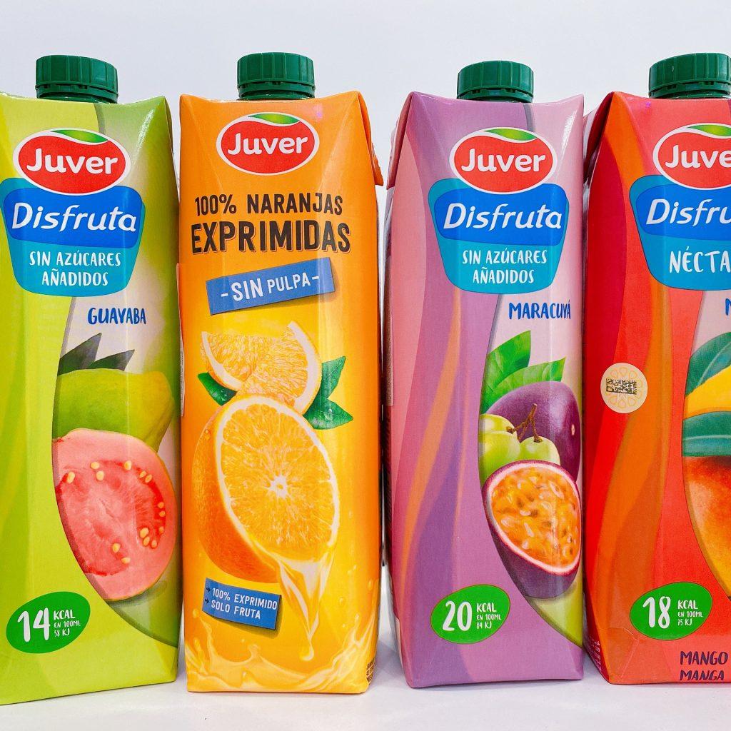 Nước ép trái cây Juver nhập khẩu nguyên hộp từ Tây Ban Nha