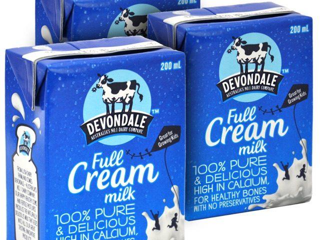 Sữa tươi Úc Devondale hộp 200ml