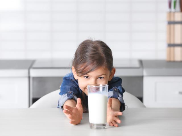 Cho trẻ uống từ 500ml - 1 lít sữa tươi mỗi ngày bổ sung đầy đủ chất giúp chiều cao đạt tối đa